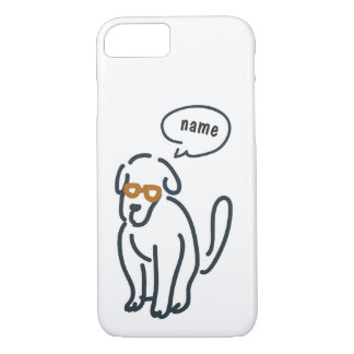 Line drawing - talking doggi iPhone 8/7 case