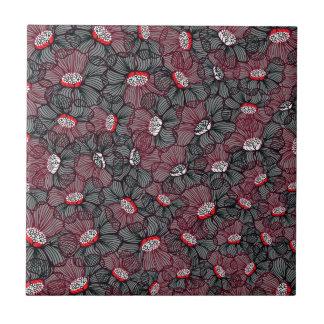 line flower tile
