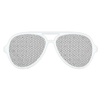 Line geometric Pattern black white 02 Aviator Sunglasses