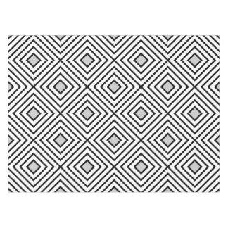 Line geometric Pattern black white 02 Tablecloth
