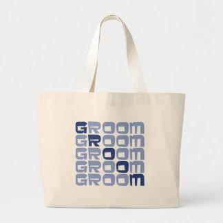 Line Groom Gifts Large Tote Bag