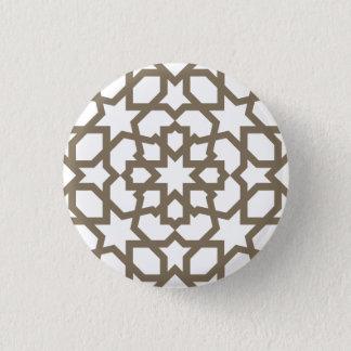 Line Moroccan sea bream of tile mosaic 1 Inch Round Button