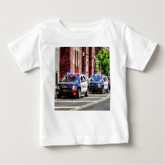 Line of Police Cars Baby T-Shirt
