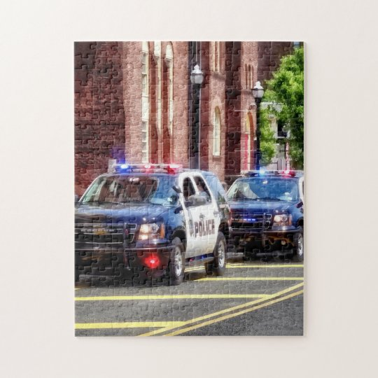 Line of Police Cars Jigsaw Puzzle