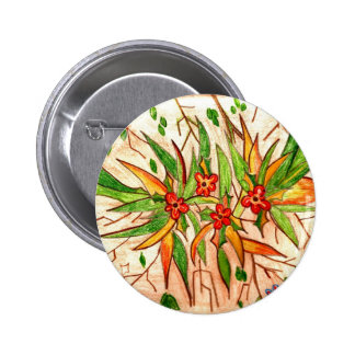 Line of Products Tropical Flowers 2 Inch Round Button