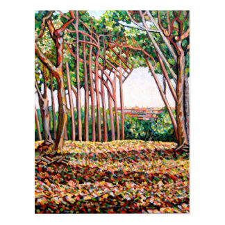 Line of Trees 2009 Postcard