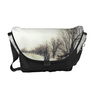 Line of Trees in the Snow Commuter Bag