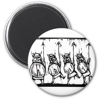 Line of Vikings Magnet