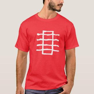 Line Stack, White T-Shirt
