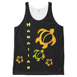 LineA Hawaiian Golden Lava Honu All-Over-Print Tank Top