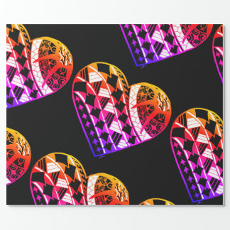 LineA Heart Tattoo Ombre Wrapping Paper