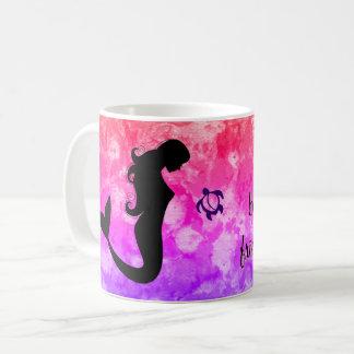 """LineA """"Life is Beautiful with Friends..."""" Mermaid Coffee Mug"""