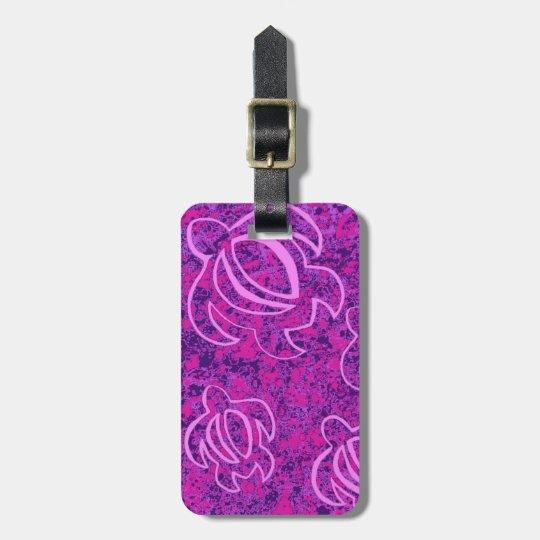 LineA Pink Honu Luggage Tag