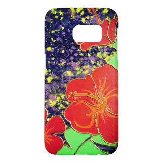 LineA Red Hibiscus Samsung Galaxy S7 Case