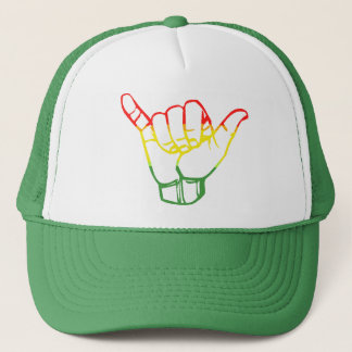 LineA Shaka Rasta Trucker Hat
