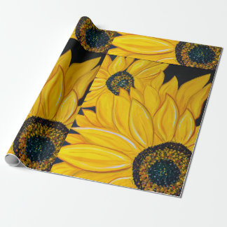 LineA Sunflowers Wrapping Paper