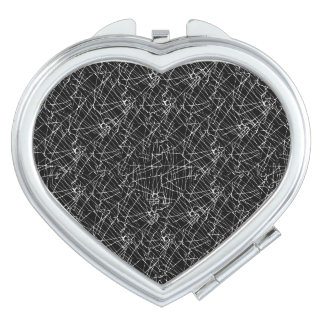 Linear Abstract Black and White Compact Mirrors