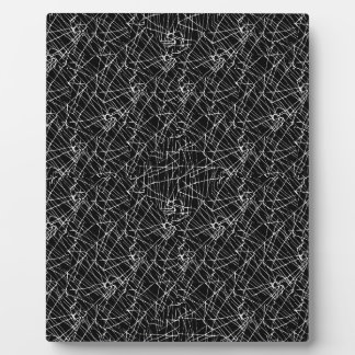 Linear Abstract Black and White Plaque
