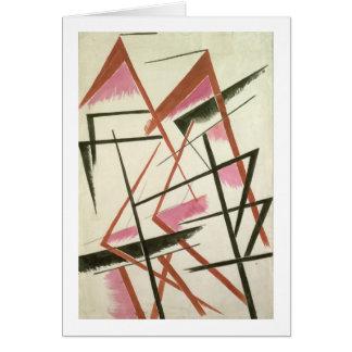 Linear Construction, c.1921 (gouache on paper) Card