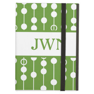 Linear Dot #7 with monogram iPad Air Case