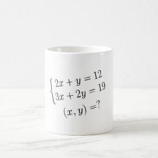 Linear Equations Coffee Mug
