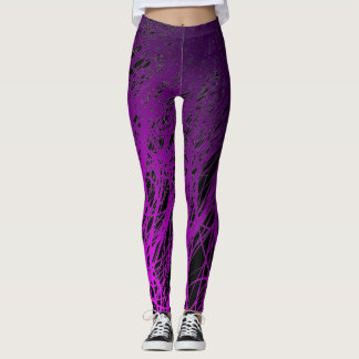 Linear Explosion Purple - Leggings