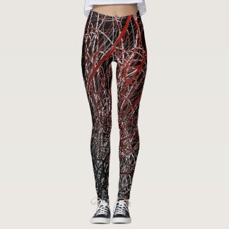 Linear Explosion Red - Leggings