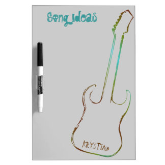 Linear Guitar Personalized Dry Erase Board