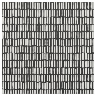 Linear, Modern Pattern - Sagamore - Black Fabric