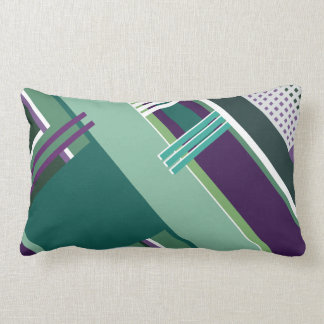 Linear purple & green pillow