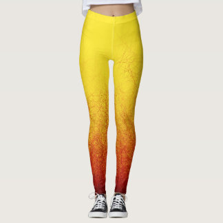 Linear Radial Sunset - Leggings