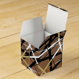 LINEAR rust Wedding Favor Boxes