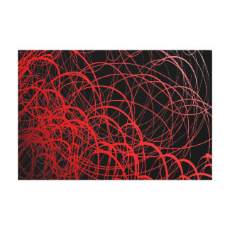 Linear Waves Rouge - Canvas Print