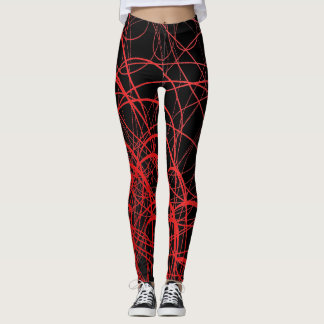 Linear Waves Rouge - Leggings