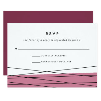 Lineation RSVP Card | Marsala