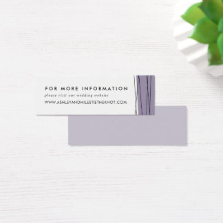 Lineation Wedding Website Cards | Gray Lilac