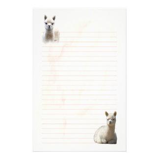 Lined Alpaca Stationery