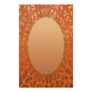 Lined Bronze Gold Lace p2 Stationery Pages