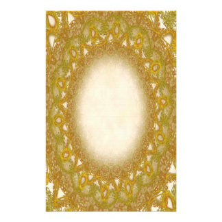Lined Gold Lace p2 Stationery Pages