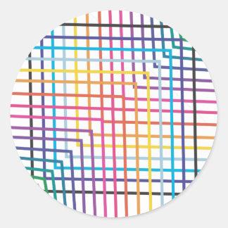 Lined in Rainbow Round Sticker