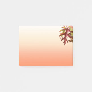 Lined Orange Shades Deep RedFall Leaves Post-it Notes