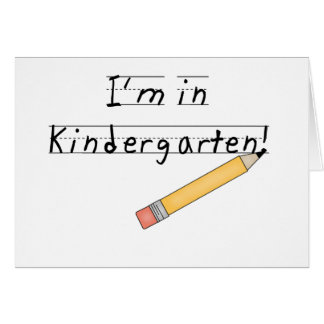 Lined Paper and Pencil Kindergarten Greeting Card