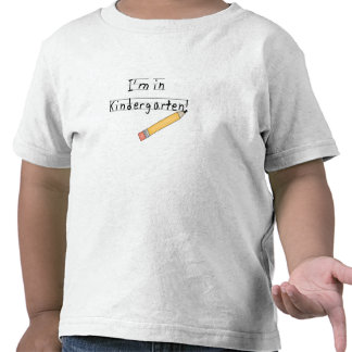Lined Paper and Pencil Kindergarten Shirt