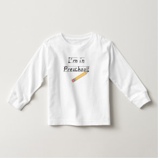 Lined Paper and Pencil Preschool Toddler T-shirt