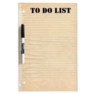 Lined Paper Dry Erase Boards