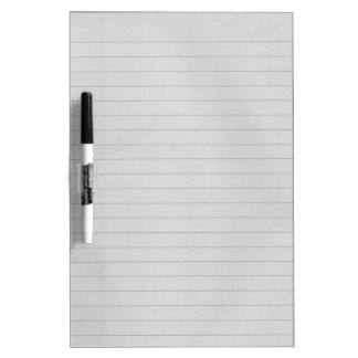 Lined Paper Dry-Erase Whiteboard