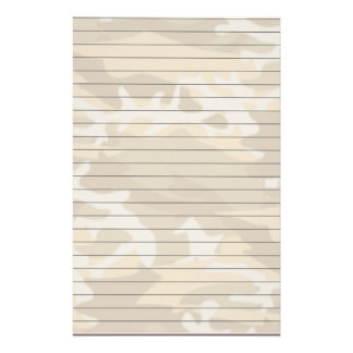 Lined Paper With Desert Camo