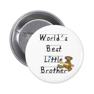 Lined Paper World's Best Little Brother 2 Inch Round Button