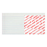 Lined School Paper Background Photo Greeting Card