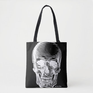 Lined Skull Tote Bag